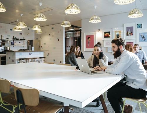 Office Tenant Improvements Shrinking Desk Space